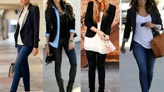How to style a blazer with jeans