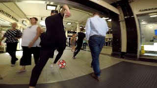 Street Footballers INSANE Race VS the London Tube