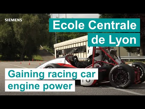 Ecole Centrale de Lyon - Gaining racing car engine power with LMS Imagine.Lab