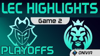 G2 vs MAD Highlights Game 2 Playoffs Round1 LEC Spring 2020 G2 Esports vs MAD Lions LEC Highlights 2
