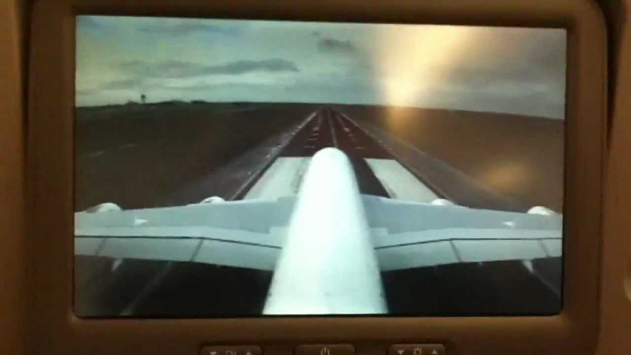 Emirates a380 take off flying and landing on tail camera - Emirates camera ...