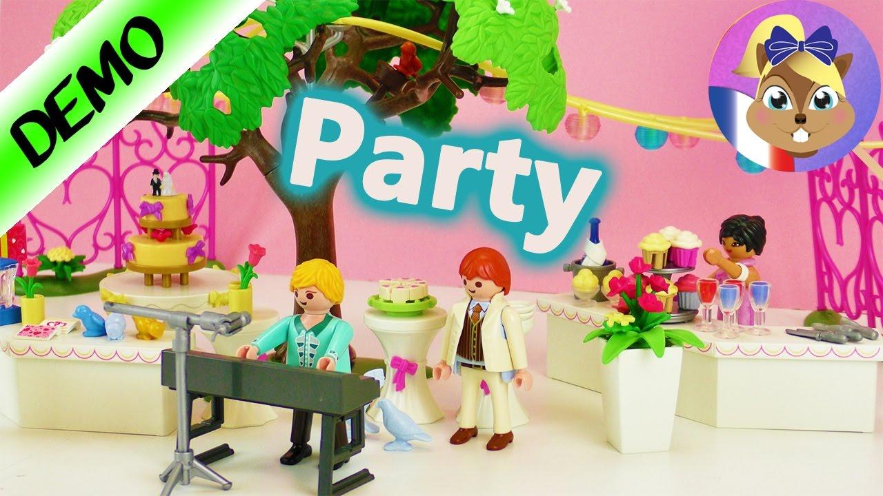 Mariage Playmobil 9228 | Super fête dans un grand jardin avec ...