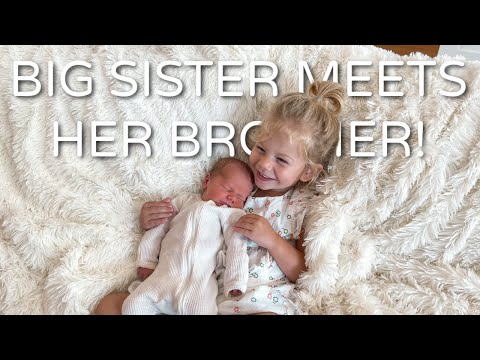 OUR BABY BOY'S NAME IS.... + ALESSI MEETS HER BROTHER!
