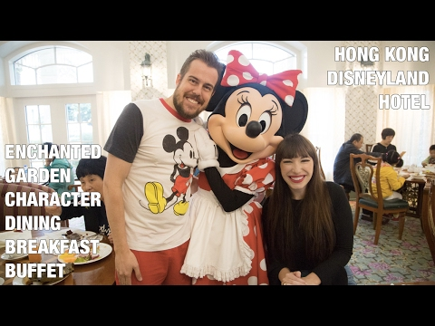 Hong Kong Disneyland Hotel Enchanted Garden Breakfast Buffet with Character Meet and Greet