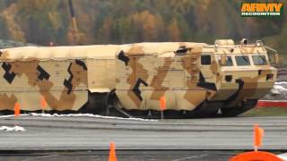 DT-10PM two section tracked all-terrain amphibious carrier vehicle Vityaz Russia Russian army
