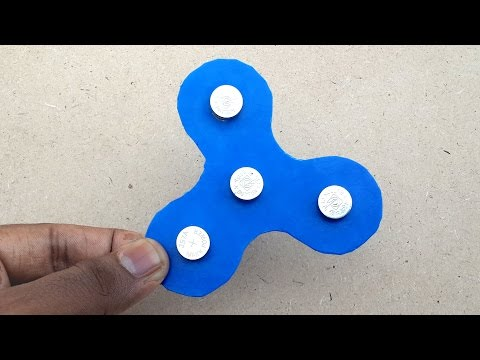 How to Make a Fidget Spinner without Bearings at Home - DIY