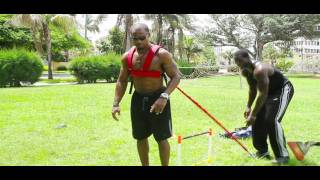 Tony Thomas uses his R.E.V. Strength System with Pro-Athletes Darren Sharper and Javon Walker