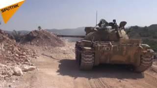 بالفيديو: النيران السورية تجتاح مواقع المسلحين في ريف اللاذقية