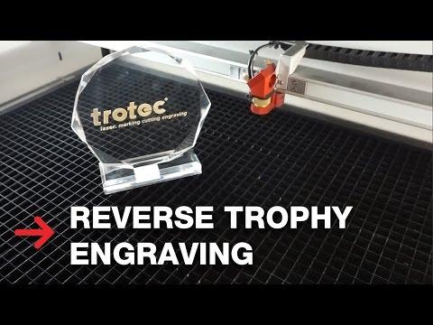 Reverse Trophy Engraving | Acrylic Laser Engraving