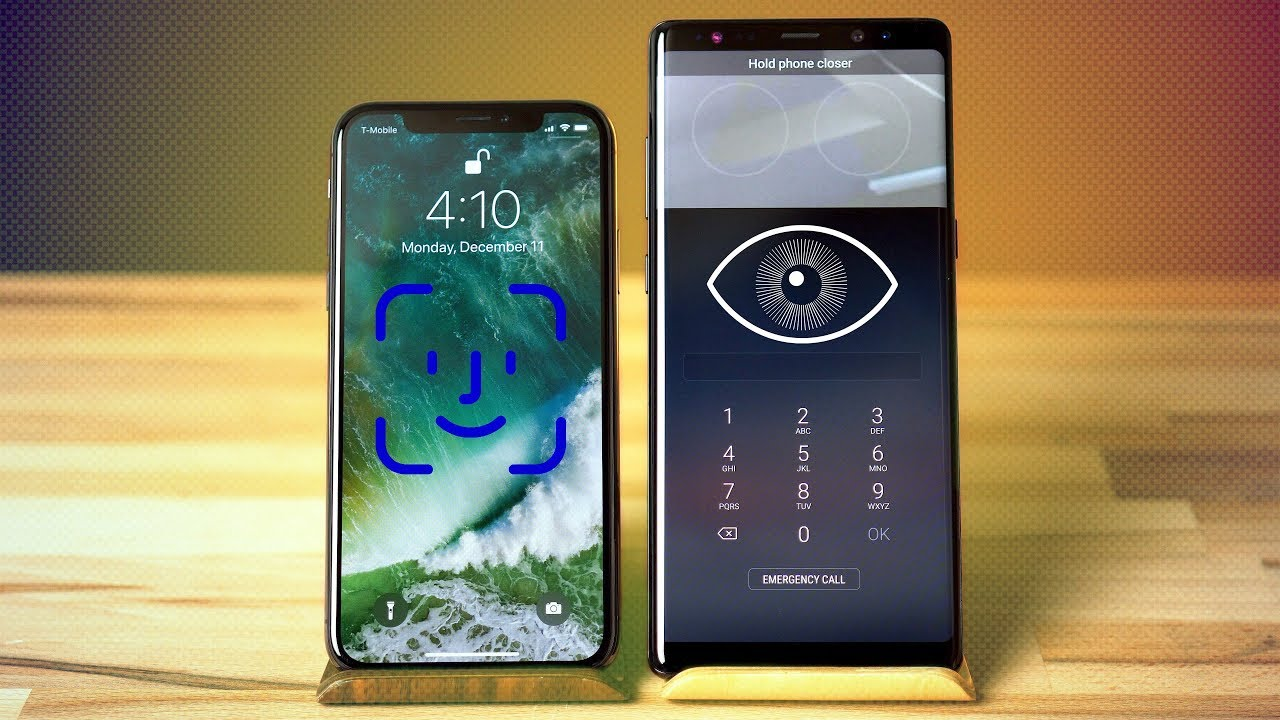 Comparison: iPhone X vs  Galaxy Note 8 biometrics