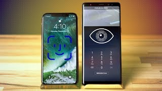Face ID vs Iris Scanner & Face Recognition - iPhone X vs Note 8 Video