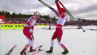 Therese johaug 15km skiathlon champion gull vm falun 2015