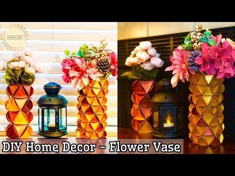 Flower Vase Decoration Ideas DIY | flower vase diy ideas | how to make a flower vase | home decor