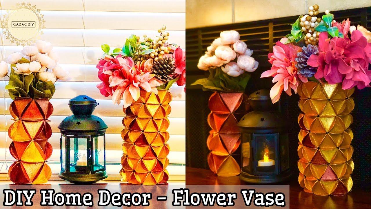 Flower Vase Decoration Ideas Diy Flower Vase Diy Ideas How To Make A Flower Vase Home Decor Youtube