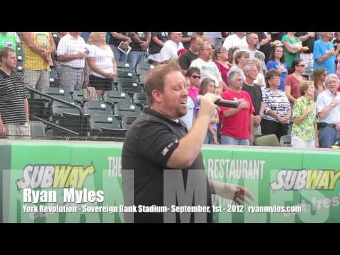 Ryan Myles - National Anthem - Sovereign Bank Stadium - 9/1/12