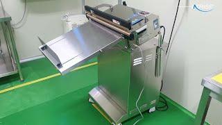 분말제품(프로바이오틱스) 포장용 공압식접착기, 의료용