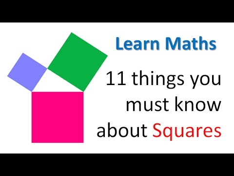 11 things you must know about Squares Learn Maths