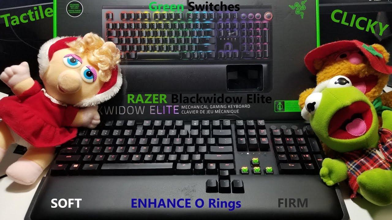 Razer Blackwidow Elite Unboxing Enhance O Rings Soft Firm Razer