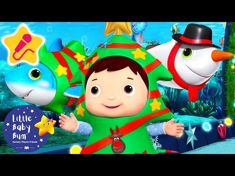 Santa Shark Christmas Special | Christmas Songs for Kids | Baby Songs | Little Baby Bum