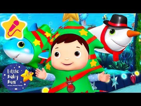 Santa Shark Christmas Special   Christmas Songs for Kids   Baby Songs   Little Baby Bum
