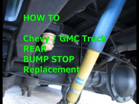 How to Bump stop replacement 99-2014 Chevy GMC truck, Sierra, Silverado REAR