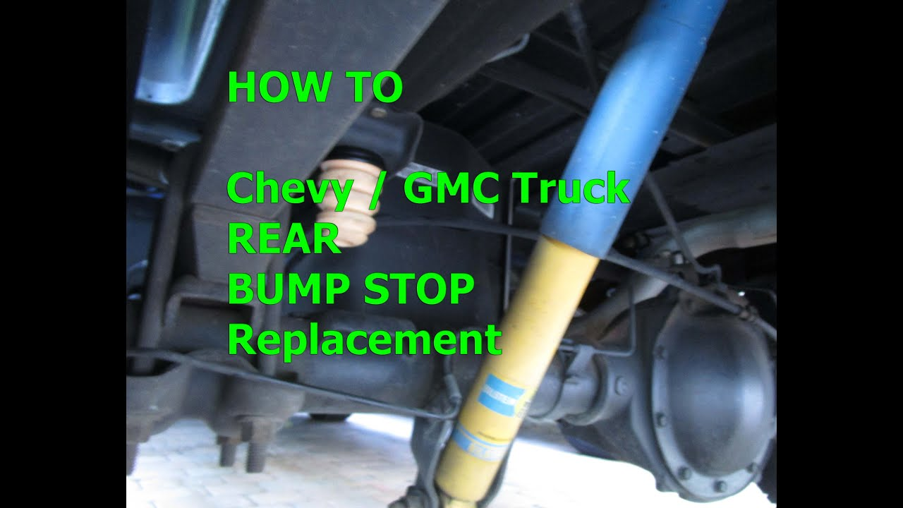 How To Bump Stop Replacement 99 Chevy Gmc Truck