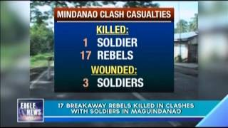 17 breakaway rebels killed in clashes with soldiers in Maguindanao