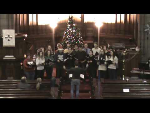Carol singing in Saint Columba Gaelic Church Part 1