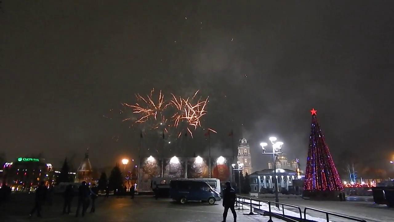 Новогодний салют на пл. Ленина в Туле - 2017