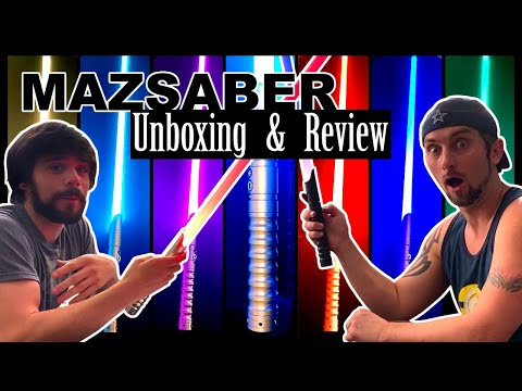 Lightsaber unboxing and review: Mazsaber  color changing lightsaber not ultrasabers not saberforge