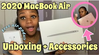 2020 MACBOOK AIR UNBOXING PLUS ACCESSORIES🤩