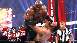 McIntyre lands three Future Shock DDTs on Lashley: WrestleMania 37 – Night 1 (WWE Network Exclusive)
