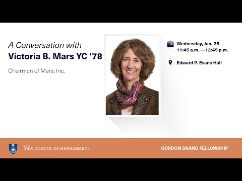 A Conversation with Victoria B  Mars, YC '78, Chairman of the Board, Mars, Inc