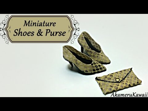 Miniature Shoes & Purse - Polymer Clay/Fabric tutorial
