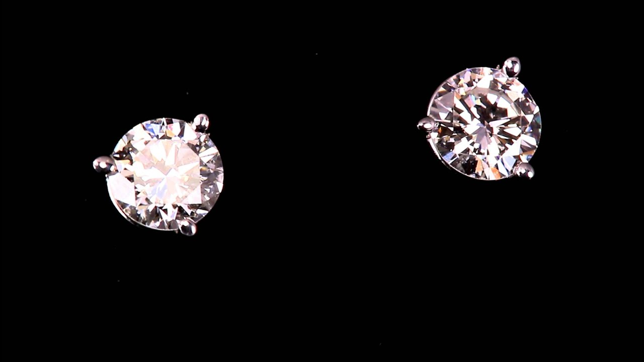 stud studs champagne brilliant dp earrings com amazon gold round cut white earring clarity brown diamond in