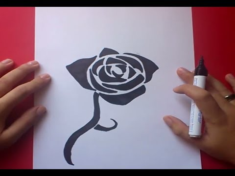 Como dibujar una rosa paso a paso 2 how to draw a rose 2 - Como secar una rosa ...