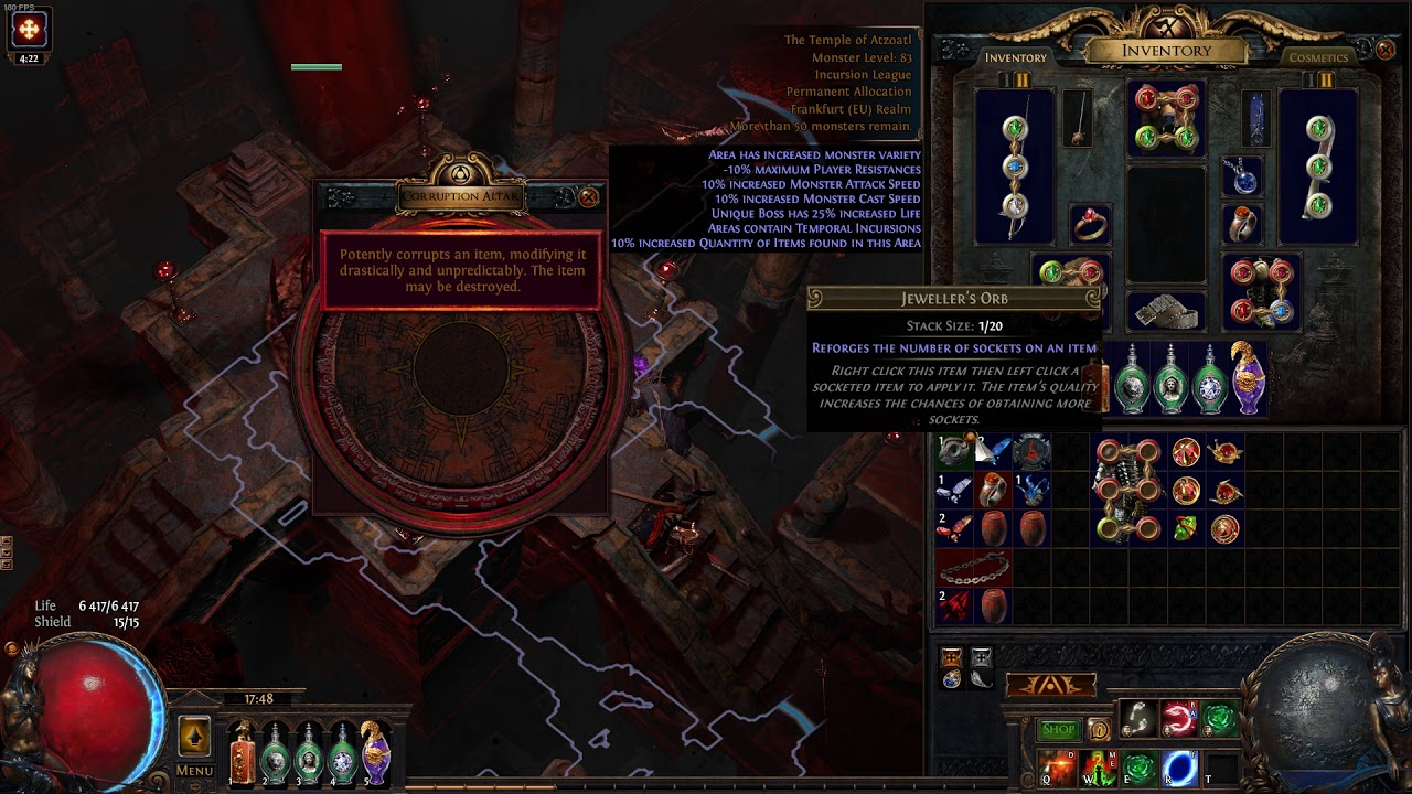 Path Of Exile 2018 06 20 17 48 03 19 Corrupt 6L Belly - YouTube