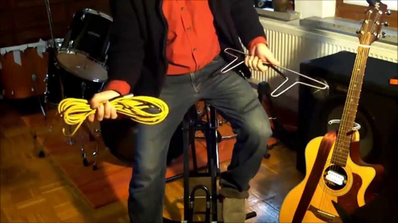 Mikro- und Gitarrenkabel aufwickeln - YouTube