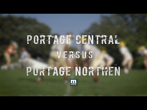 Portage Northern vs Portage Central High School Football 2016