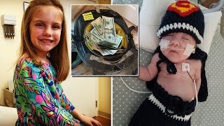 7 year old girl gives up birthday presents to help preemie baby she s never met