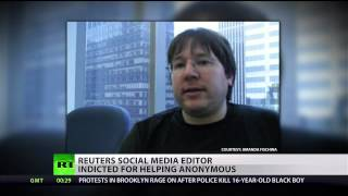 Reuters journalist indicted for aiding Anonymous