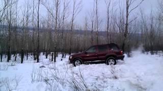 Infiniti QX4 по снегу