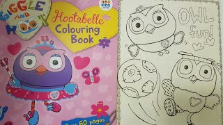 coloring owl page & twistable colored pencils hootabelle book