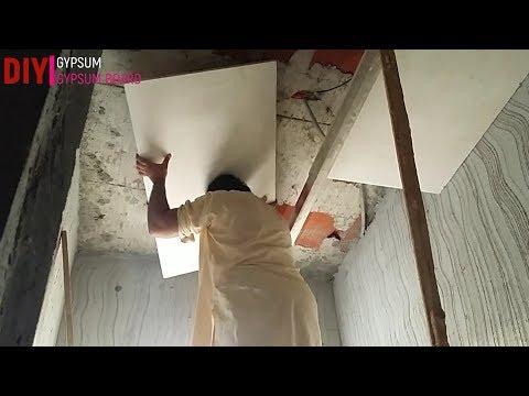Pop false ceiling designs bathroom ||DIY GYPSUM & GYPSUM BOARD