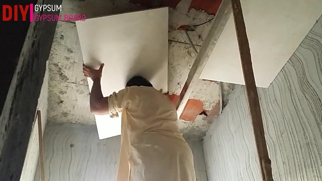 Pop False Ceiling Designs Bathroom Diy Gypsum Gypsum Board Youtube