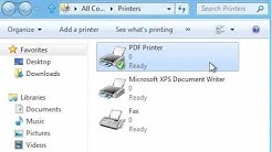 How to install  PDF Printer in windows 7,8 &10 simple steep  || How to install PDF printer