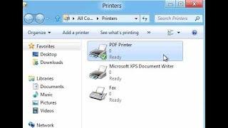 pdf принтер для Windows 8