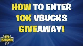 How to enter 10k vBucks Giveaway!
