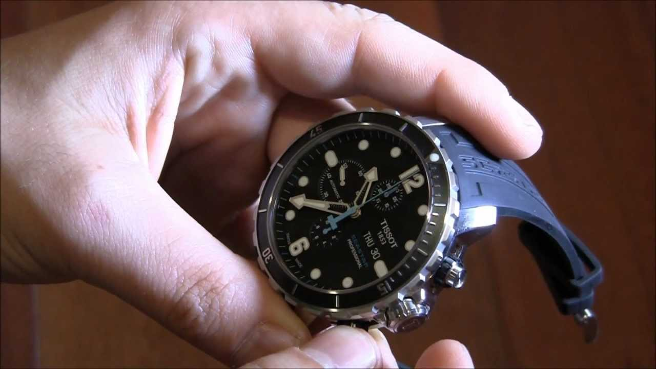 Tissot SeaStar 1000 Chronograph Valjoux Watch Review - YouTube 5473b339b75