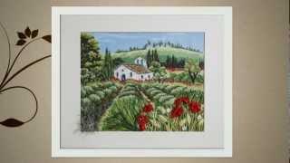 Объёмная вышивка картин   Выставка вышитых картин   Галина Перова